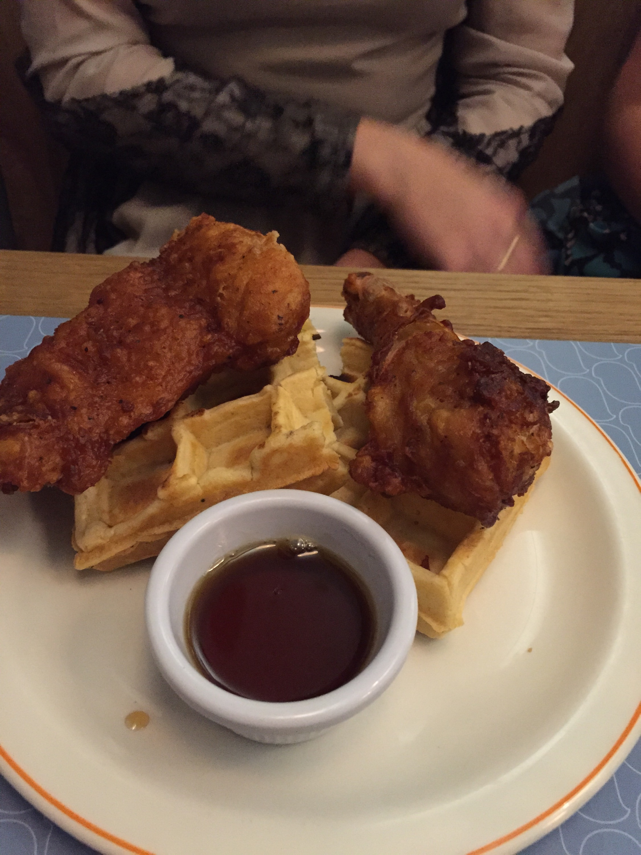 Chicken and waffles Bird