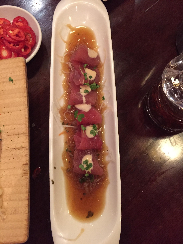 Bento Ramen Tuna carpaccio