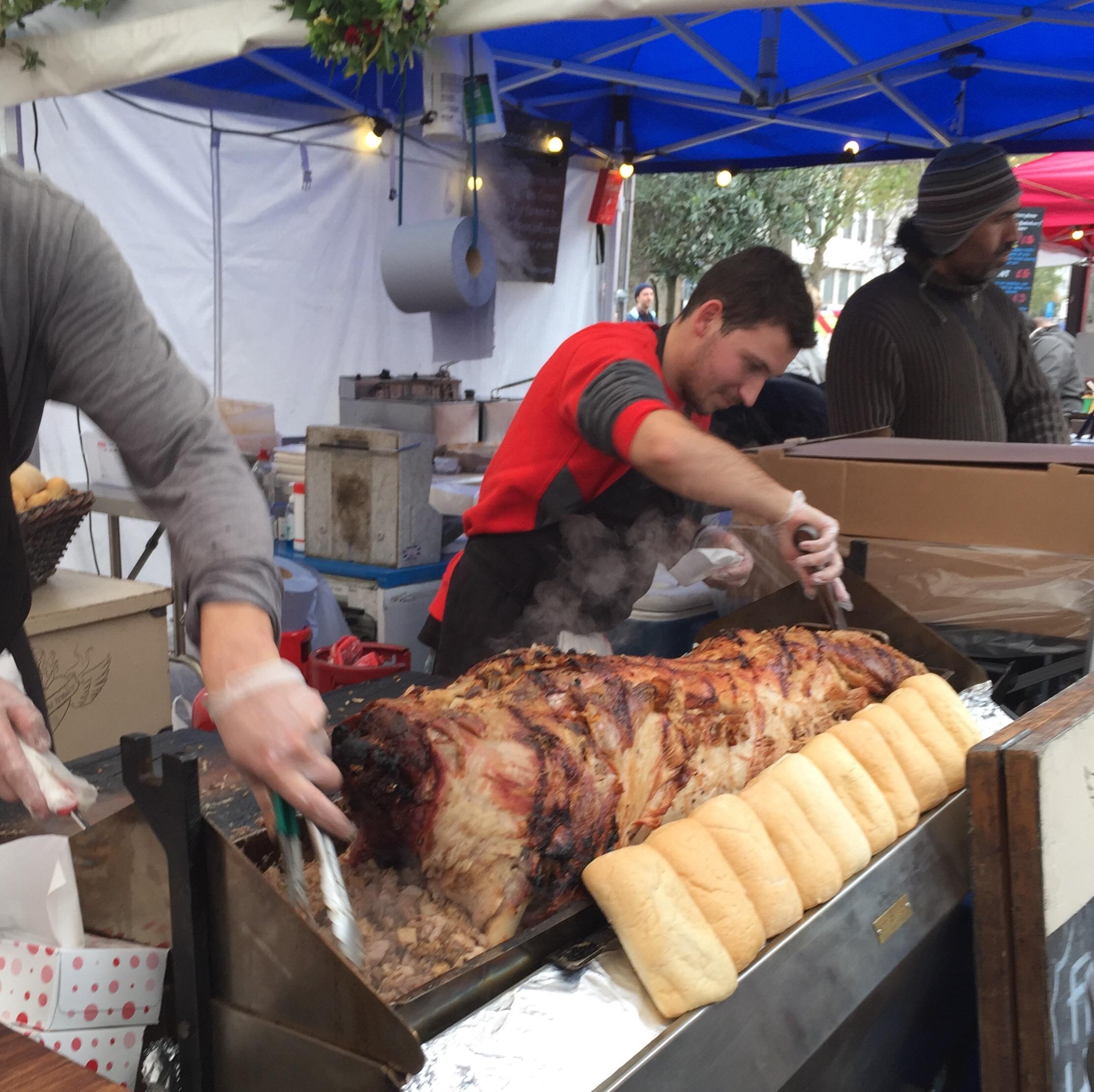 hog roast southbank market
