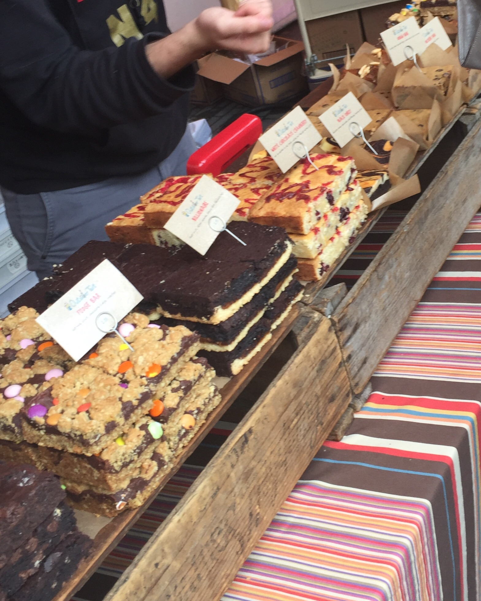 cakes at southbank centre food market
