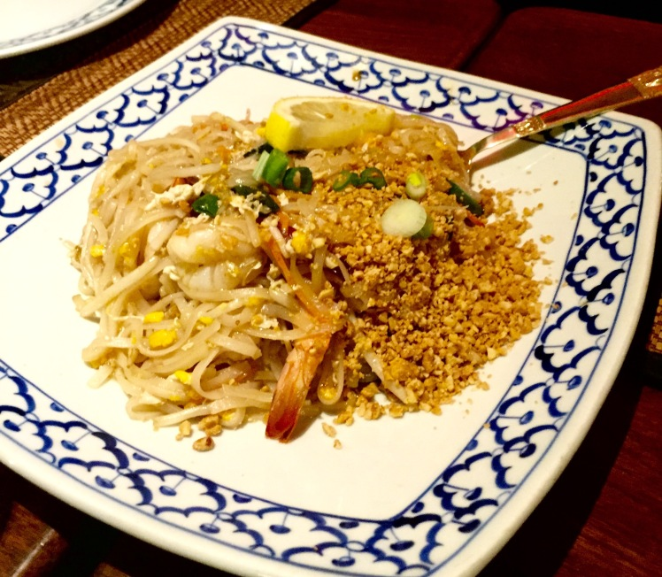 Prawn pad thai The old siam