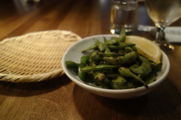 Grilled edamame beans
