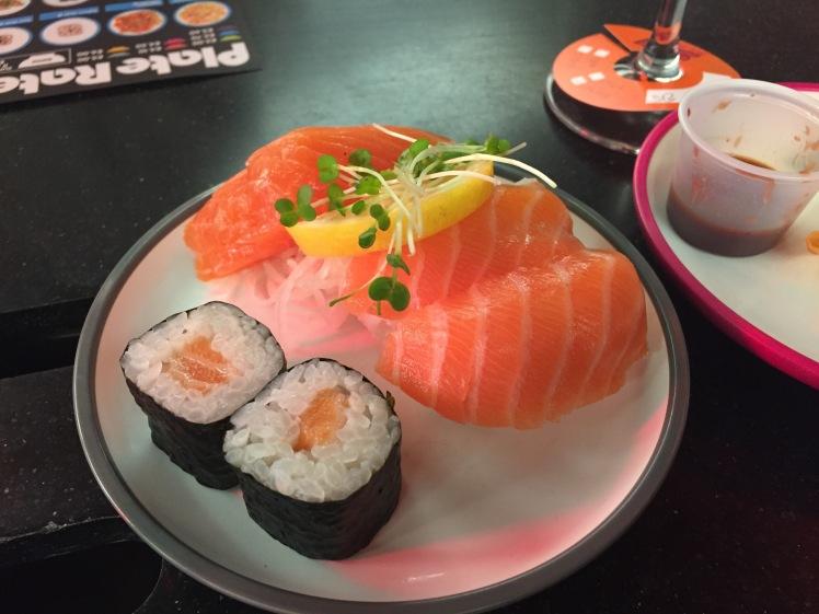 Yo! Sushi salmon sashimi