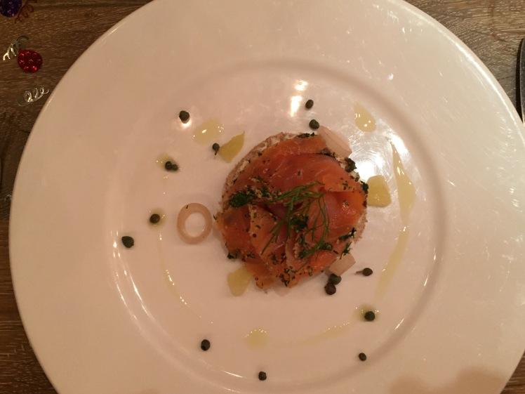 New Street Grill salmon gravadlax