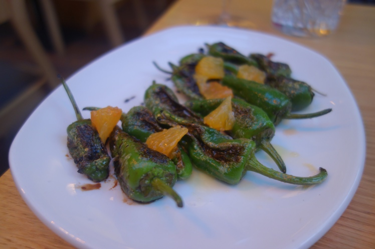 Artisan Bistro grilled padron peppers