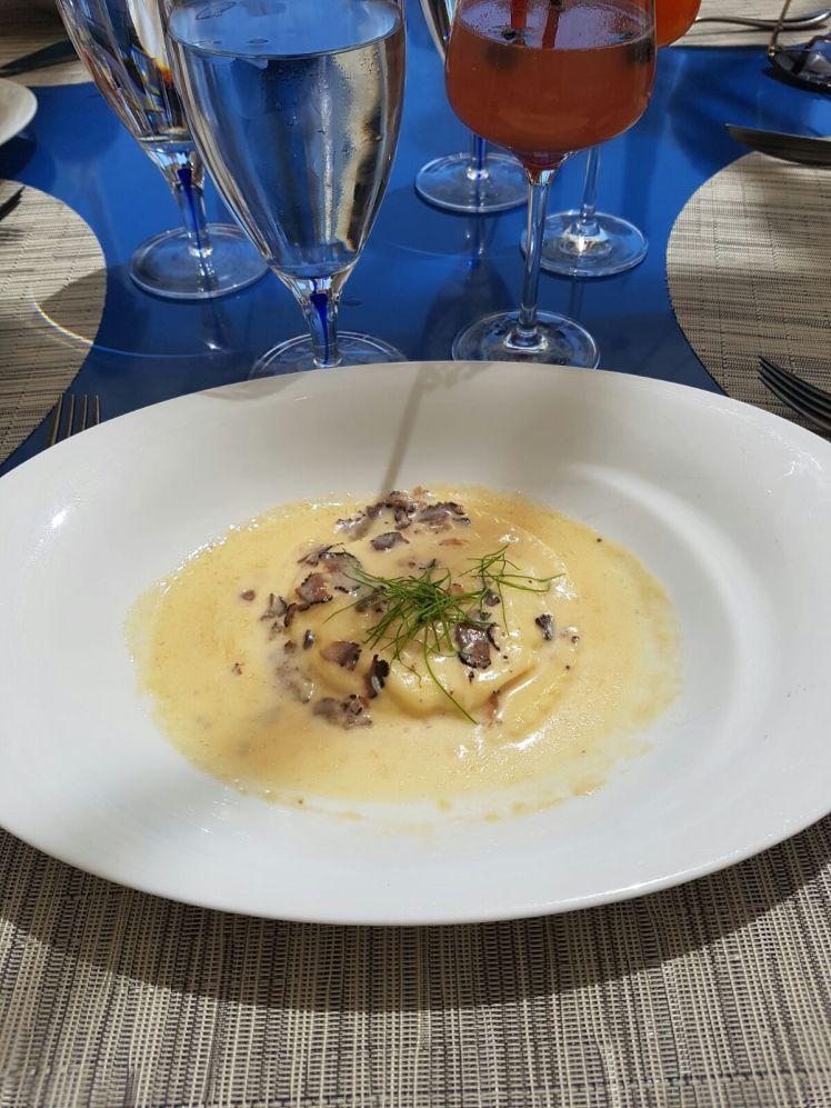 ravioli with truffle ricotta lago