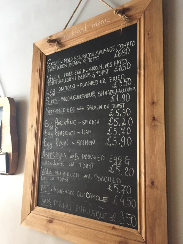 sawmill breakfast menu