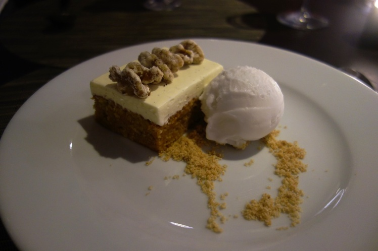 Carrot Cake and Coconut Sorbet
