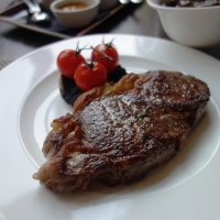 Quay Side Steak @ Manhattan Grill, Canary Wharf