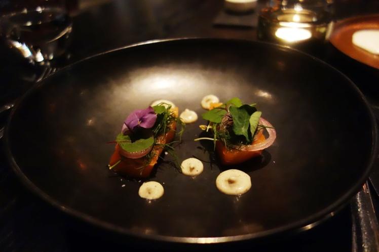 Organic Salmon sashimi